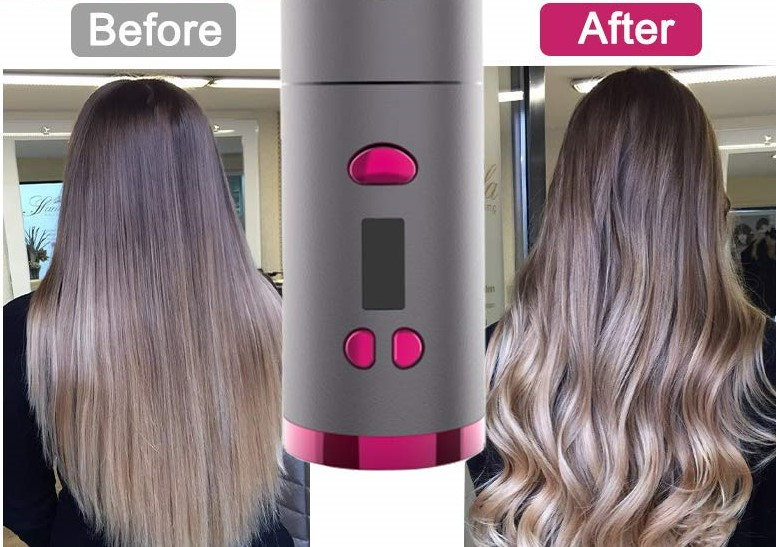Auto hair curler for long & thick hair